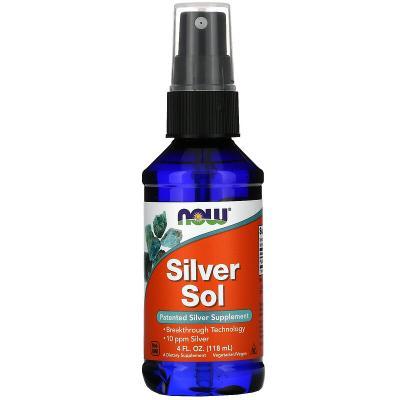 Коллоидное серебро, Silver Sol, Now Foods, 118 мл
