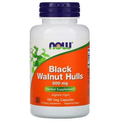 Черный орех, Black Walnut, Now Foods, 500 мг, 100 капсул