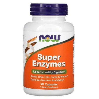 Пищеварительные ферменты, Super Enzymes, Now Foods, 90 капсул