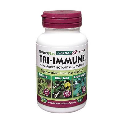 Комплекс для поддержки иммунной системы, Tri-Immune, Natures Plus, 60 таблеток