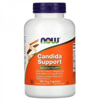 Candida Support, Now Foods, 180 вегетарианских капсул