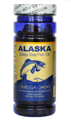 Рыбий жир, Омега 3-6-9, Golden Alaska Deep Sea Fish Oil, 1005 мкг, 100 капсул