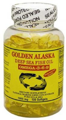 Рыбий жир, Омега 3-6-9, Golden Alaska Deep Sea Fish Oil, 1000 мкг, 100 капсул