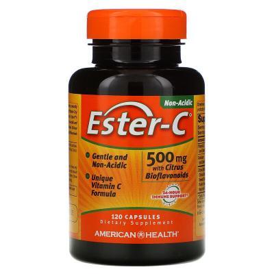 Эстер-С с цитрусовыми биофлавоноидами, Ester-C, American Health, 500 мг, 120 таблеток