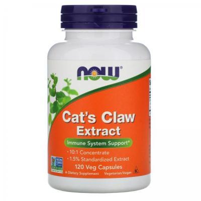 Now Foods, экстракт кошачьего когтя, 120 вегетарианских капсул