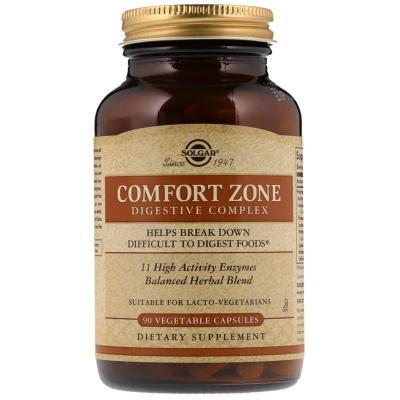 Пищеварительный комплекс Comfort Zone Digestive Complex, Solgar, 90 вегетарианских капсул