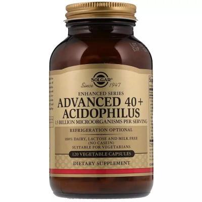 Улучшенный ацидофилус 40+, Advanced 40+ Acidophilus, Solgar, 120 вегетарианских капсул