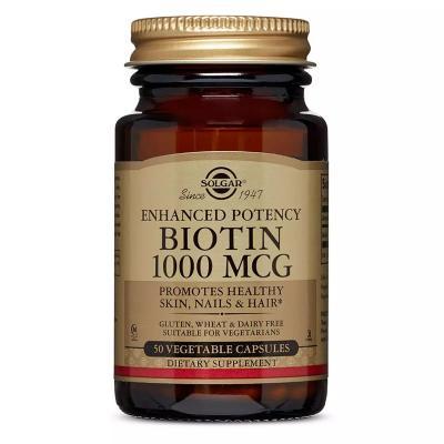 Биотин (В7), Biotin, Solgar, 1000 мкг, 50 вегетарианских капсул
