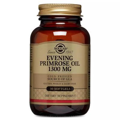 Масло примулы вечерней, Evening Primrose Oil, Solgar, 1300 мг, 30 желатиновых капсул
