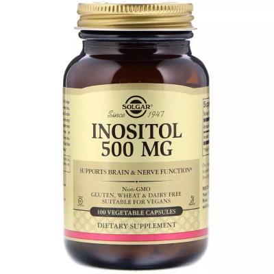 Инозитол, Inositol, Solgar, 500 мг, 100 капсул