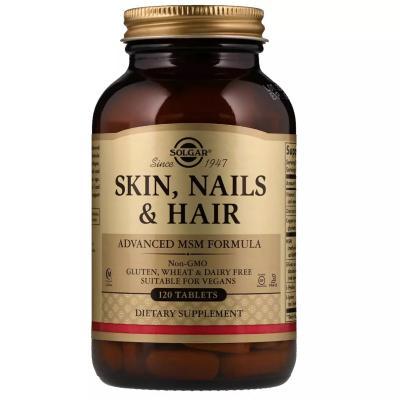 Витамины для волос, кожи и ногтей, Skin, Nails, Hair, Solgar, 120 таблеток
