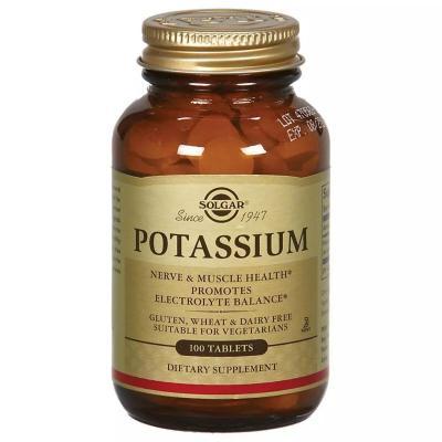 Калий, Potassium, Solgar, 99 мг, 100 таблеток