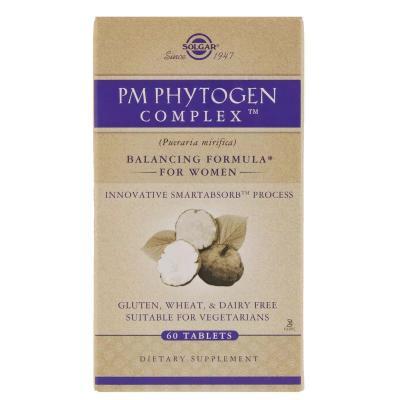 Менопауза комплекс для женщин, PM PhytoGen, Solgar, 60 таблеток