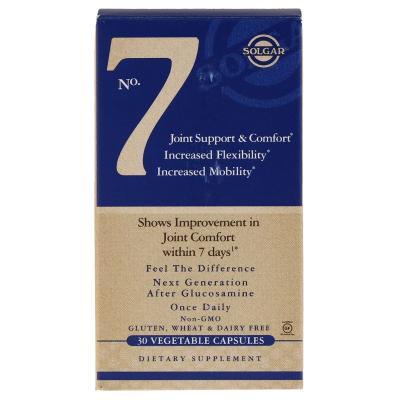 Комплекс комфорт и поддержка суставов, No.7 Joint Support, Solgar, 30 гелевых капсул