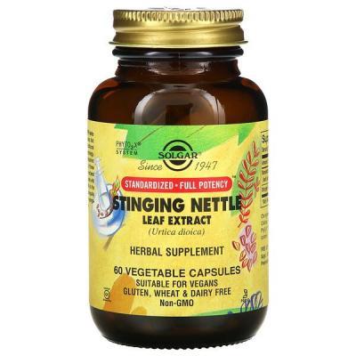 Крапива, экстракт листьев, Nettle Leaf Extract, Solgar, 60 таблеток