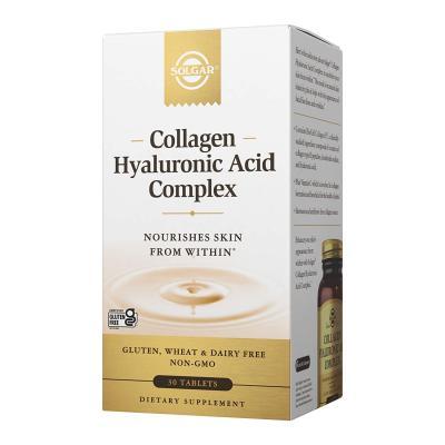 Комплекс коллагена и гиалуроновой кислоты, Hyaluronic Acid Collagen Complex, Solgar, 30 таблеток