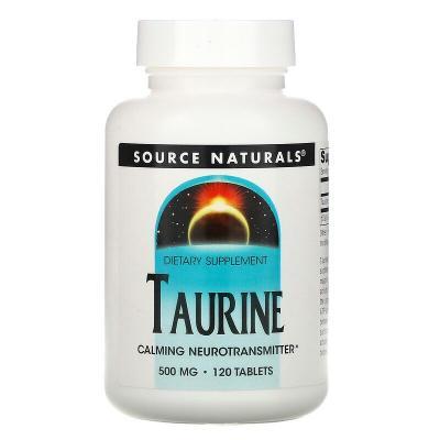 Taurine, Source Naturals, 500 мг, 120 таблеток