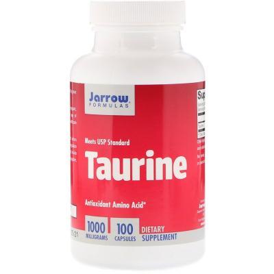 Таурин, Taurine, Jarrow Formulas, 1000 мг, 100 капсул