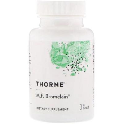 Бромелайн MF, M.F. Bromelain, Thorne Research, 60 Капсул