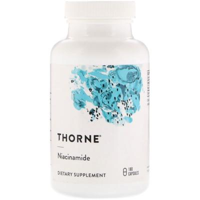 Ниацинамид, Niacinamide, Thorne Research, 500 мг, 180 капсул