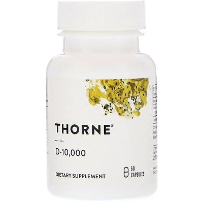 Витамин D3, D-10000, Thorne Research, 60 капсул