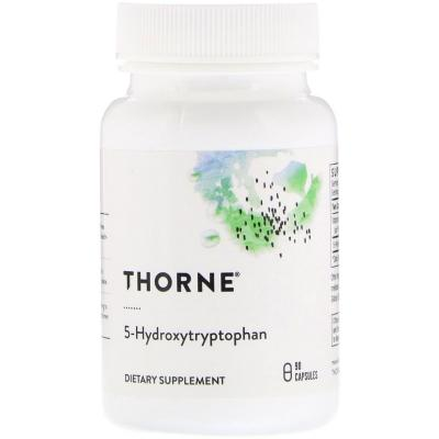 5-HTP (5-Гидрокситриптофан, 5-Hydroxytryptophan), Thorne Research, 100 мг, 90 капсул