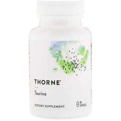 Таурин, Taurine, Thorne Research, 90 капсул