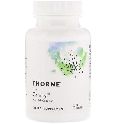 Ацетил карнитин, Carnityl, Thorne Research, 60 капсул