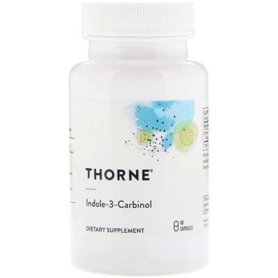Индол 3 Карбинол, Indole-3-Carbinol, Thorne Research, 200 мг, 60 капсул