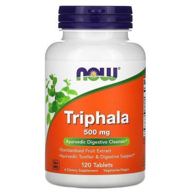 Трифала, Triphala, Now Foods, 500 мг, 120 таблеток