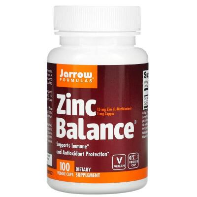 Цинк баланс, Zinc Balance, Jarrow Formulas, 100 капсул