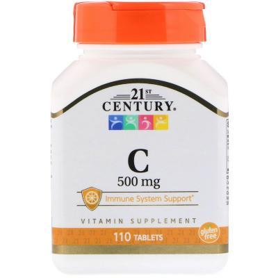 Витамин C, 21st Century, 500 мг, 110 таблеток