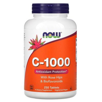 Витамин С-1000, Vitamin C, Now Foods, 250 таблеток