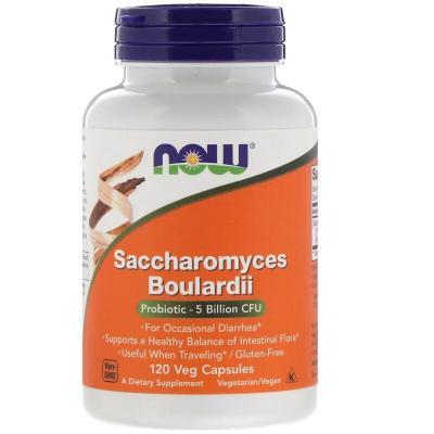Сахаромицеты Буларди, Saccharomyces Boulardii, Now Foods, 5 млрд КОЕ, 120 капсул