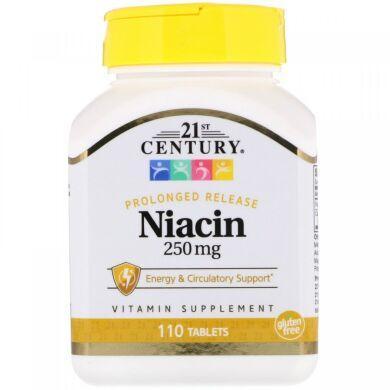 Ниацин, 250 мг, 21st Century,  110 таблеток