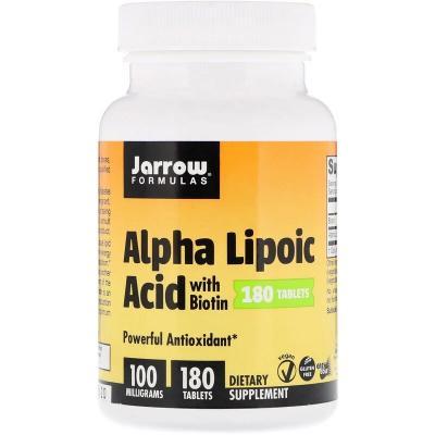 Альфа-липоевая кислота, Alpha Lipoic Acid, Jarrow Formulas, 100 мг, 180 таблеток