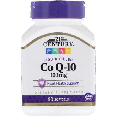 Коэнзим Q10, Co Q-10, 21st Century, 100 мг, 90 капсул