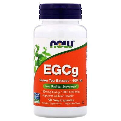 Зеленый чай, экстракт, Green Tea EGCg, Now Foods, 400 мг, 90 капсул