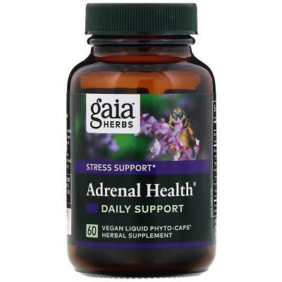 Ежедневная поддержка, Adrenal Health, Gaia Herbs, 60 капсул