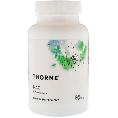 Ацетилцистеин, NAC, Thorne Research, 90 капсул
