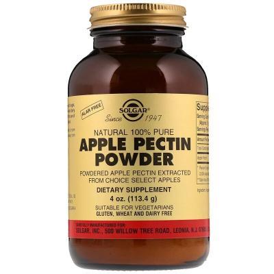 Яблочный пектин, Solgar, 1000 мг, 113 гр