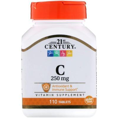 Витамин С, Vitamin C, 21st Century, 250 мг, 110 таблеток