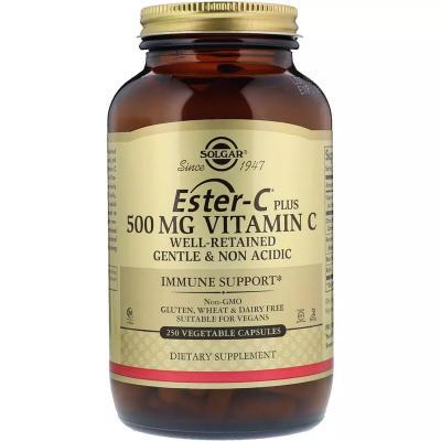 Витамин С (Эстер Плюс), Vitamin C (Ester-C Plus), Solgar, 500 мг, 250 капсул