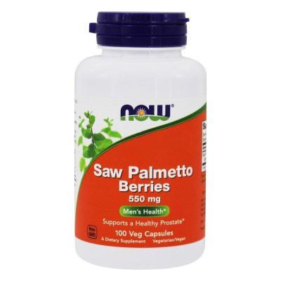 Со Пальметто, Saw Palmetto, Now Foods, ягоды, 550 мг, 100 капсул