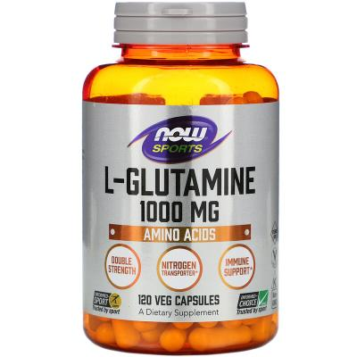 L-глутамин, L-Glutamine, Now Foods, 1000 мг, 120 капсул