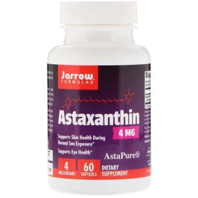 Астаксантин, Astaxanthin, Jarrow Formulas, 4 мг, 60 капсул