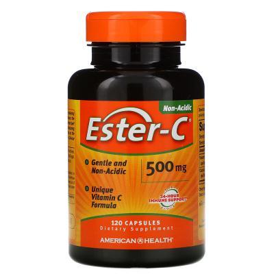 Эстер-С, Ester-C, American Health, 500 мг, 120 капсул