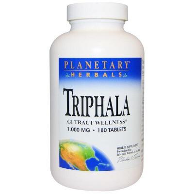 Трифала, Triphala, Planetary Herbals, 1000 мг, 180 таблеток