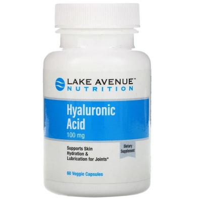 Гиалуроновая кислота, Hyaluronic Acid, Lake Avenue Nutrition, 100 мг, 60 растительных капсул