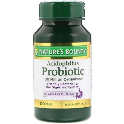 Пробиотики, Acidophilus Probiotic, Nature's Bounty, 120 таблеток